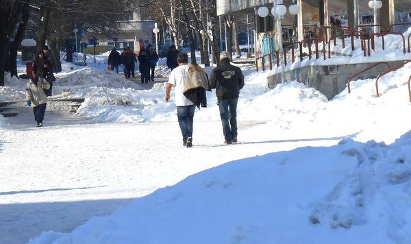 Температурите вече са положителни... (Добрич, 6 февруари 2014 година, +1 градус)
