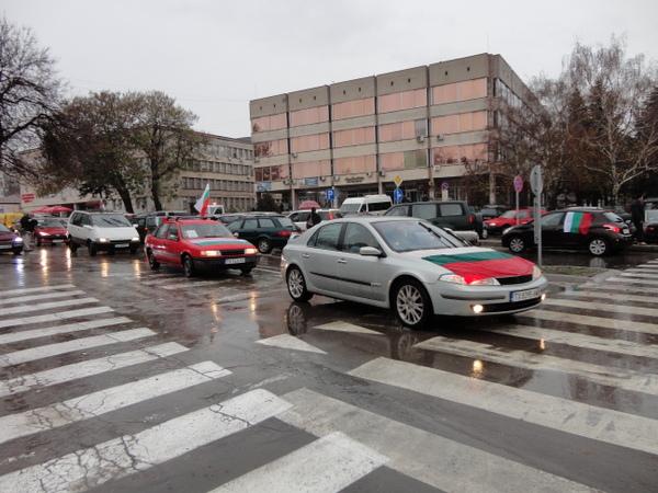 Стотици шофьори протестираха в Добрич срещу цената на винетките