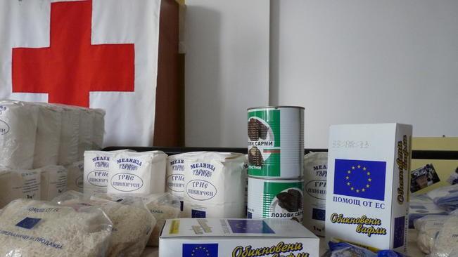 БЧК започва раздаването на хранителни продукти в община Каварна