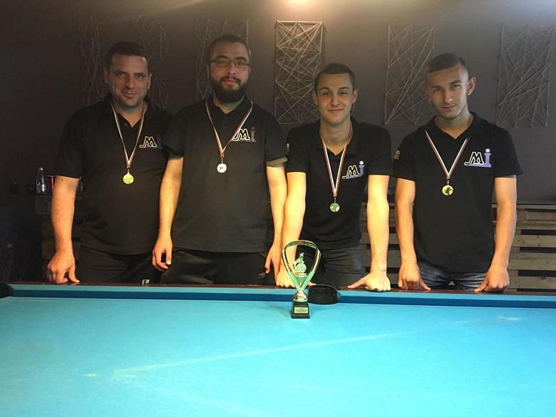 Отборът на Добрич - шампион на областта по билярд за втора поредна година