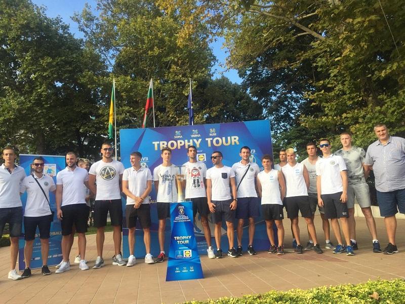 Любо Ганев представи купата на Световното по волейбол в Добрич