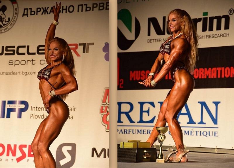 Екатерина Върбанова за трети път стана републикански шампион по бодифитнес