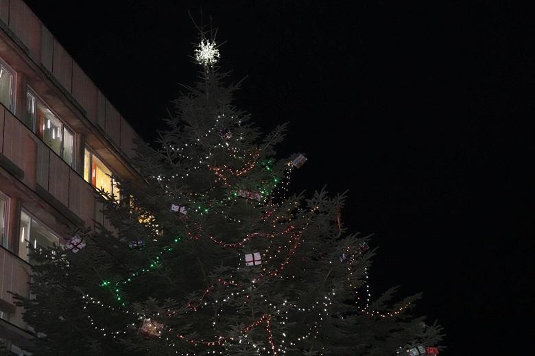 Грейнаха светлините на елхата и празничната украса в Генерал Тошево