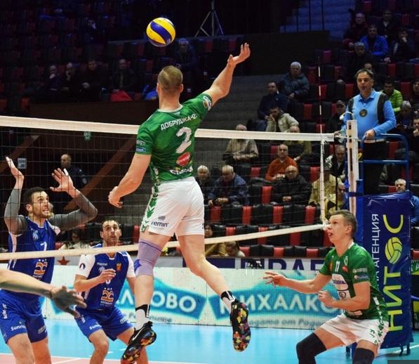"""На полуфиналите за купа """"България"""" се класираха добричките волейболисти"""