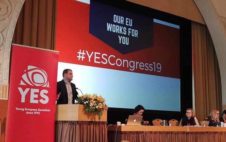 Младежкото обединение в БСП има своя достоен представител в организацията на Младите европейски социалисти
