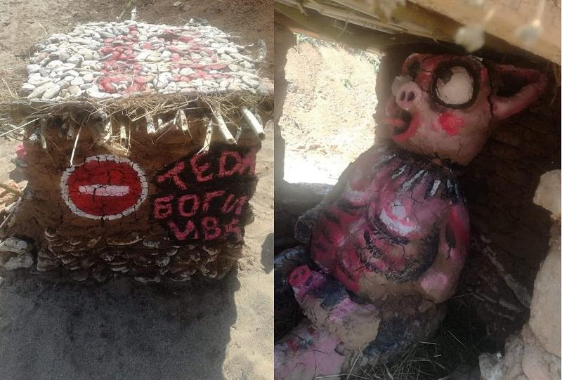 Построиха къщичка на чумата по свинете на плажа в Езерец