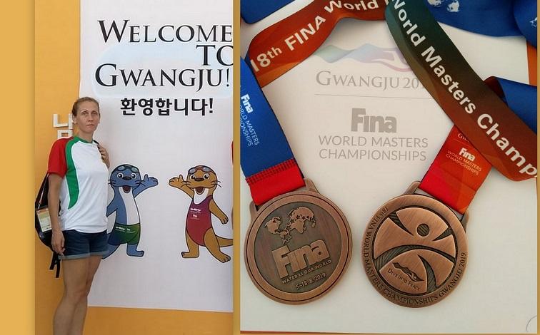 С два медала се завърна Антония Михова от Световно първенство по плувни спортове в Корея