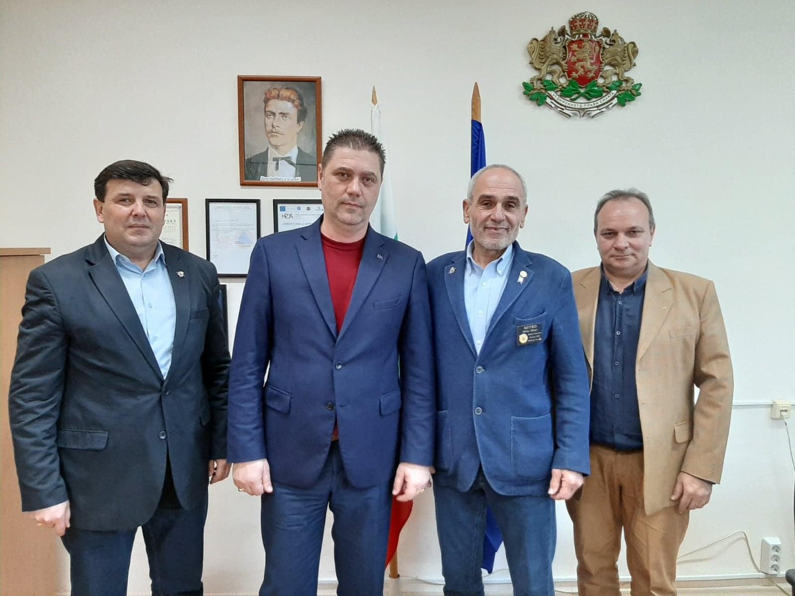Зам.-областният управител Красимир Николов се срещна с президента на Ротари България