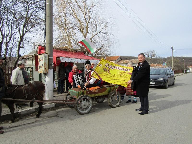 Зам.-областният управител Красимир Николов се включи в отбелязването на Трифон Зарезан в село Одринци