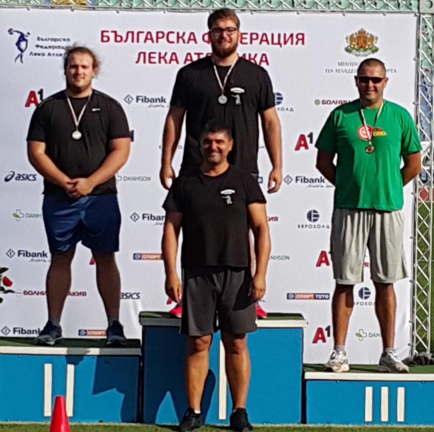 """Два медала взеха атлетите от СКЛА """"Добрич"""" при мъжете"""