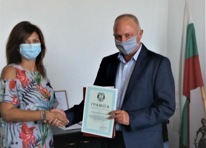 Прокурор от Добрич с отличие за изпълнение на служебните задължения