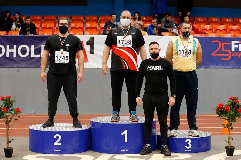 Галин Костадинов с трето място от Национален шампионат за мъже и жени по лека атлетика